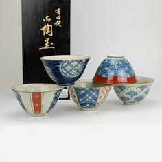 Giapponese Arita porcellana ciotole di riso - Arita Porcellane