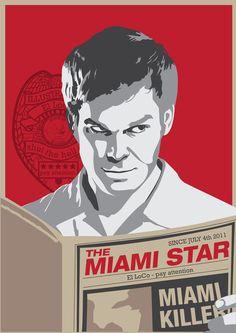 Dexter The Miami Killer Art Print