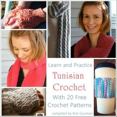 Give me just 15 minutes and you can learn Tunisian crochet! Learn and Practice Tunisian crochet with 20 free patterns