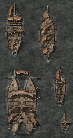 GoboShipSAM by Madcowchef on DeviantArt - picture for you Fantasy World Map, Fantasy Places, Dungeons And Dragons Homebrew, D&d Dungeons And Dragons, Ship Map, Dnd Dragons, Rpg Map, Dungeon Maps, Dungeon Tiles