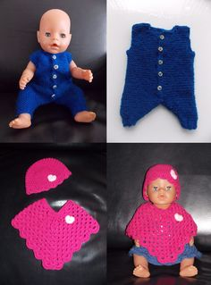 Baby Born Clothes, Preemie Clothes, American Girl Clothes, Crochet Doll Clothes, Doll Clothes Patterns, Doll Patterns, Crochet Patterns, Girl Dolls, Baby Dolls