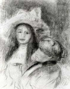 Berthe Morisot and her Daughter, 1894. Crayon on paper. Musée du Petit Palais. Paris. Francia. Pierre Auguste Renoir, Edouard Manet, Berthe Morisot, Mary Cassatt, Paris, Crayon, Fine Art, Impressionism, Montmartre Paris