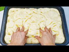 Mischen Sie Wasser mit Mehl, Sie werden vom Ergebnis begeistert sein! brot backen, Focaccia - YouTube Cooking Bread, Bread Baking, Bread Recipes, Cooking Recipes, Burger Buns, How To Make Bread, Sweet Bread, Fritters, Diy Food