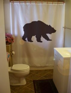 grizzly bear Shower Curtain wild creature america by eternalart