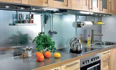 Glas-/Metall-Küchenspiegel