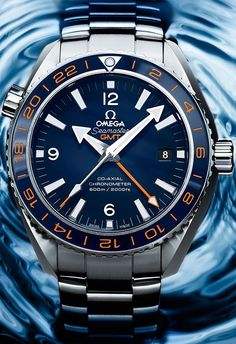 Omega Seamaster Planet Ocean GMT 600 m GoodPlanet – Diving Watches Omega Seamaster Planet Ocean, Omega Planet Ocean, Dream Watches, Fine Watches, Luxury Watches, Cool Watches, Watches For Men, Latest Watches, Mens Sport Watches