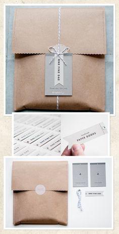 Saco de papel craft costurado à máquina