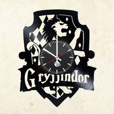 Harry Potter Gryffindor Handmade Vinyl Record Wall Clock - VINYL CLOCKS