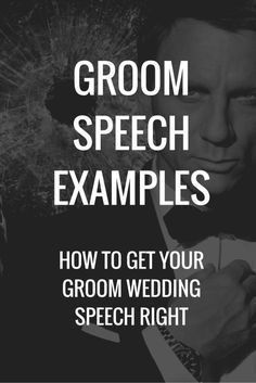While you should always have a speech that's personal and genuine, this can give you a head start if you're having a tough time with ideas.