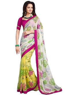 Alluring and Elegant Chiffon Saree with Silk Blouse AMST-2819