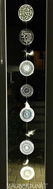 diy, selbst gemachte Fensterdeko, upcycling, musterliebe, eisig