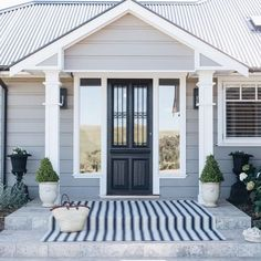 Welcoming Hamptons Style - Entry Doors, Garage Doors & Internal Doors - My site Garage Door Styles, Beach House Exterior, House Exterior, House Paint Exterior, House, Entry Doors, Building A House, Hamptons House Exterior, Exterior House Colors