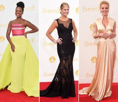 2014 Primetime Emmy Awards Red Carpet Fashion | Fashion Trends, Makeup Tutorials, Hairstyles and Style Secrets