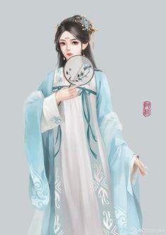 Anime Angel Girl, Anime Girl Cute, Anime Art Girl, Manga Watercolor, Cute Girl Hd Wallpaper, Chinese Picture, Female Cartoon Characters, Beautiful Chinese Girl, L5r