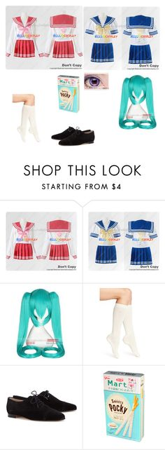 """""""@mewmewbunny as a lucky star character!"""" by zozo-chan ❤ liked on Polyvore featuring Coshome, Calvin Klein and Manolo Blahnik"""