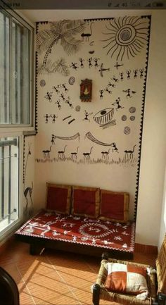 Living Room Ethnic Indian Home Decor Ideas 41 Ethnic Home Decoration Ideas New Ideas Simple Seating In A Small Urban Flat Indian Home Decor Home Ethnic Traditional Indian Home Decor Ethnic Indi.