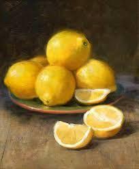 Resultado de imagen para pinturas al oleo con espatula,bodegon frutas