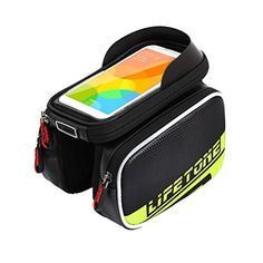 Bike Handlebar Bags - DuShow Multicolor Outdoor Cycling Bicycle Bike Front Tube Cell Phone Bag with Touch Screen Phone Case -- Details can be found by clicking on the image.
