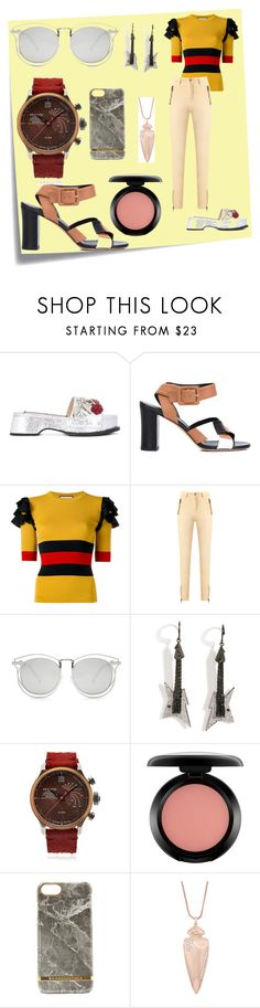 """""""fashion for all"""" by denisee-denisee ❤ liked on Polyvore featuring Post-It, Derek Lam, Gucci, Talie NK, Karen Walker, Lynn Ban, Terra Cielo Mare, MAC Cosmetics and Kendra Scott"""