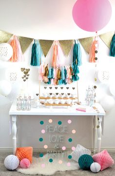 Custom party decor