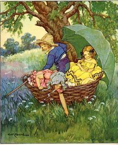 1930 Illustration By Clara M. Burd From A Child's by Elizabeth100