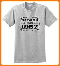 Plus Size 60th Birthday Gift 60th Birthday Gifts For All Badass Since 1957 T-Shirt 3XL Ash (*Partner Link)