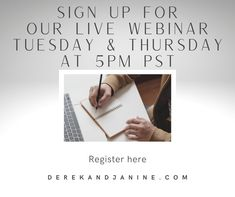 Want To Have An Income That Generates While You Are Enjoying Life? Complimentary Live Online Workshop Tuesday & Thursday. 5pm PST / 8pm EST. It Will Explain Our Business That Allows You To Do Just That! Register Your Spot Here ⬇️⬇️⬇️ www.derekandjanine.com Replay available anytime! We look forward to working with you! Cheers! Derek & Janine #DerekandJanine #DJGetLivingNow #StartLivingYourBestLifeNow #DreamBigLiveBigger #LaptopLifestyle #DigitalBusiness #AskUsHow #TakeActionNow Your Best Life Now, Enjoying Life, Replay, Online Work, Cheers, Thursday, Workshop, Live, Business