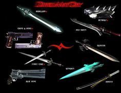 Weapons of Devil May Cry