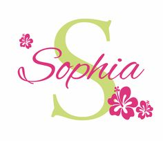 Flower Wall Decals Personalized Name and Initial Wall Decal for Girl Baby…