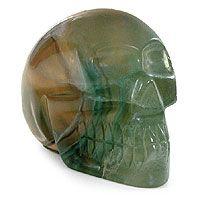 Fluorite statuette, 'Misty Green Skull'