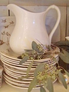 . . . Cabin & Cottage  My mother had ironstone pitchers just like this one