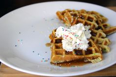 How to Make Cake Batter Funfetti Waffles