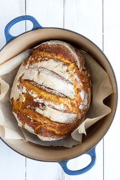 no-knead spelt and pumpkin bread.