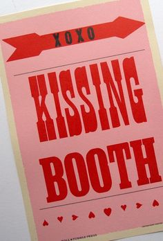 kissing booth by roll and tumble press