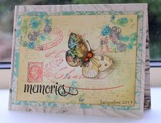A collage of stamps, three of which are Hero Arts and I can't get enough of my newly found Butterfly stamp which was stamped and cut out on a scrap piece of pp.