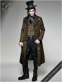 Y-717 Edward - Victorian male coat by punk rave | Gothic, Steampunk, Metal, Punk, Lolita, Fetish fashion style e-shop. Punk Rave, RQ-BL, Fantasmagoria clothing brands