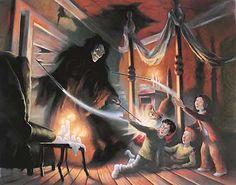 Harry Potter - Expelliarmus - Mary GrandPre - World-Wide-Art.com - #harrypotter #jkrowling #marygrandpre