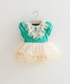Teal Ivory Toddler Girls Tutu Dress, Vintage Toddler Dress, Flower Girl Dress, Easter Dress Outfit, Birthday Dress,Rustic Beach Wedding
