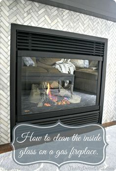 quick instructions on how to clean the inside glass on a gas fireplace.Simple and quick instructions on how to clean the inside glass on a gas fireplace. Glass Fireplace, Cleaning Glass, House Cleaning Tips, Fireplace Glass Doors, Cleaning Household, Clean Fireplace, Fireplace Decor, Fireplace, Fireplace Makeover