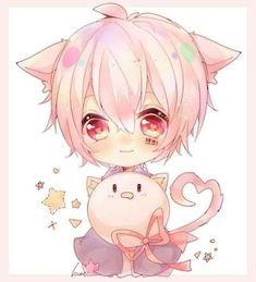 Anime Neko, Chibi Neko, Kawaii Anime, Gato Anime, Chibi Kawaii, Dibujos Anime Chibi, Chibi Boy, Loli Kawaii, Cute Anime Chibi