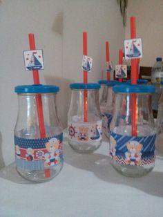 Copo de suco com vidro reciclável