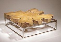 Mesa de centro de madera y metal | Chista
