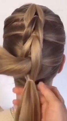 Easy Hairstyles For Long Hair, Braids For Long Hair, Pretty Hairstyles, Girl Hairstyles, Braided Hairstyles, Heatless Hairstyles, Toddler Hairstyles, Hairdos, Medium Hair Styles