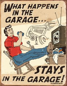 Schonberg - Happens in Garage Tin Sign at AllPosters.com