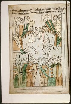 Navarre Picture Bible, Pamplona, Spain, 1197AD: Battles announcing the end of the world