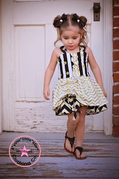 Daily Deal ~Diamonds are a Girls Best Friend~Collection Chevron Poppy Peekaboo Dress for Infants, Toddlers, Girls Sizes 6 mos to Size 10 by 4yourlittlestar on Etsy