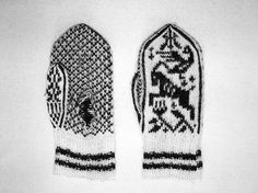 Goat mittens from Annemor Sundbø, via Flickr