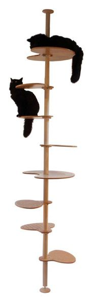 Contempocat's Elevation Modular Cat Tower System (cat shelves designed to go with the IKEA Stolmen pole).