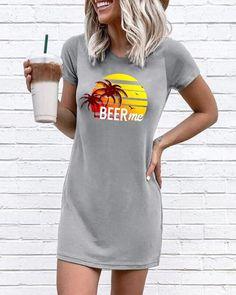 Mini Vestidos, Club Dresses, Sexy Dresses, Mini Dresses, Girls Dresses, 1 Piece Dress, Plus Size Summer, Estilo Fashion, T Shirt