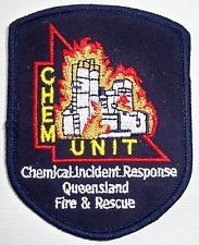 Chemical Incident Response - Queensland Fire & Rescue patch Not Police Ambulance